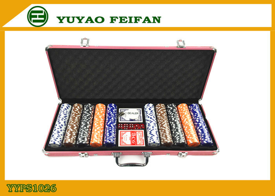 11 G Las Vegas 500 PC Poker Chip Set Zaokrąglona Dice Poker Chips