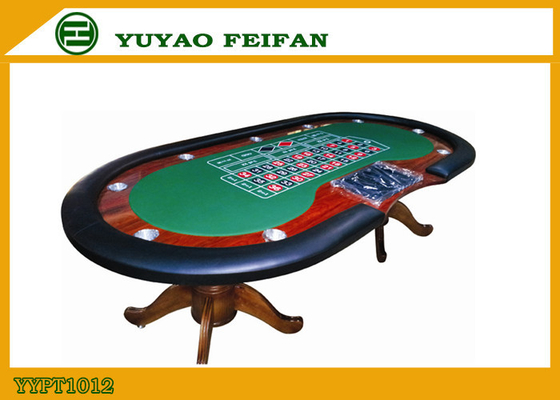 8 lub 10 Płatnicy Texas Hold'em Poker Table z Black Red Race Holder